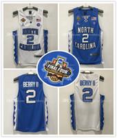 Wholesale North Style - Top quality North Carolina #2 Joel Berry II Basketball Jersey Men 2017 champion logo embroidery logo New Style High Guality #23 MJ Jerseys