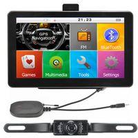Wholesale Gps Wireless Backup - 7 inch Car GPS Navigation Bluetooth Handsfree AVIN for Wireless IR Backup Reverse Camera With POI 8GB IGO Primo Maps