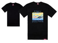 xp de golfinho-de-rosa venda por atacado-golfinho rosa camisetas golfinhos remo hip hop-camisa de moda legal rock tees e tops de manga curta verão skate streetwear