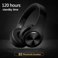 Wholesale Stereo Bluetooth Headset Pc - B3 Bluetooth Headphones Wireless HiFi Stereo Headset Headphone Headfone With Mic Support TF Card FM Radio For Smartphone PC with retail box