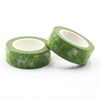 Wholesale Paradise Papers - Wholesale- 2016 1 PCS Green Animal Paradise Decorative Tapes 1.5cm X 10m Washi Paper Masking Tape Diy Labeling Floral Stickers Scrapbooking