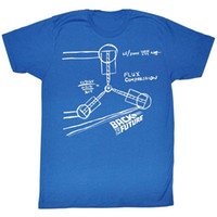 Wholesale Back Future Shirt - Men Tee Shirt Tops Short Sleeve Cotton Fitness T-Shirts Back To The Future Flux Sketch Adult Soft T-Shirt Print