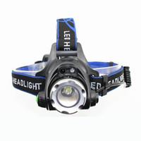 usb ir sensor groihandel-KC Feuer IR Sensor Scheinwerfer Induktion Micro USB Wiederaufladbare Laterne XM-L T6 LED Scheinwerfer Taschenlampe Kopf Taschenlampe HL0028