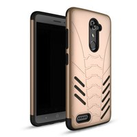 Wholesale Design Cellphone Cases - Cellphone Case For ZTE MAX XL Business Style Armor Defender Protective Simple Design Anti-knock Back Cover TPU PC Hybrid