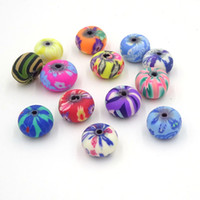 Wholesale 9mm Bulk - 6*9mm Mix Diy Beads Of Polymer Clay Wholesale Bulk Bead Creation Bijoux Parts To Make Jewelry Boncuk All For Crafts 100Pcs