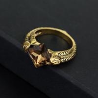 лорд кольца кристалл оптовых-Таинственный Лорд Волдеморт крестраж кольцо камень воскрешения Марволо Гонт старинные Дары Смерти Дамблдор Черный Кристалл кольцо 080081