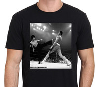 Wholesale Brown Vs Black - Sleeves Cotton Crew Neck Bruca Yee Vs Aly The Boxing Legend Vintage Men Short Compression T Shirts
