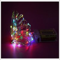 Wholesale decoration for batteries resale online - via DHL DIY copper wire fairy string color for chosing Xmas gift decoration lamp christmas tree decoration