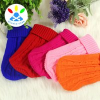 Wholesale new year health - Cute Pet Clothes Design Of Spiral Elastic Clothing Puppy Sweaters Health And Hygiene Knitted Dog Sweater New Arrival ty B R