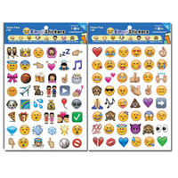 Wholesale Wholesale Sticker Sheet For Kids - Kids lovely gift Emoji Sticker Pack-Instagram Facebook Twitter for iPhone Emoji sticker 4 sheets per pack around 200 Stickers with OPP Bag