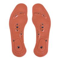 ko groihandel-1 Paar Magnetfeldtherapie Magnet Gesundheitswesen Fußmassage Einlegesohlen Frauen Komfort Pads Fußpflege Massagegerät