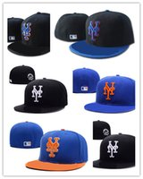 Wholesale Wool Colorful Hat Fashion - Wholesale cheap colorful Men's full Closed New York Mets fitted hat sport team NY 2 tone on field baseball cap Fashion hip hop cap
