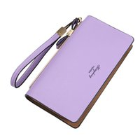 Wholesale Big Money Wallet Leather - Ladies hand bag long section zipper soft leather new 2017 Korean version big large money folder mobile phone bag