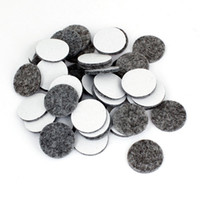 Wholesale Furniture Shapes - Wholesale- 50Pcs Round Shaped Table Chair Furniture Leg Felt Mat Pad Gray