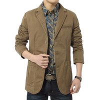 Brand New Blazer Männer Casual Blazer Cotton Parka Herren Slim Fit Jacken Army Green Khaki Plus Größe M-XXXXL