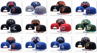 Wholesale Wholesale Leather Caps Hats - New Caps Baseball Snapback Hats Leather Cap All Color Team Hats Mix Match Order All Caps in stock Top Quality Hat Wholesale