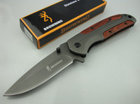Wholesale 3cr13mov knife - Promotion Browning DA43 Titanium Tactical Folding Knife 3Cr13Mov Outdoor Camping Hunting Survival Pocket Knife Utility EDC Xmas Collection