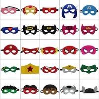 ingrosso sentiva gli occhi-Maschere di Halloween Cosplay 103 Disegni 2 strati Cartoon Felt Mask Costume Party Masquerade Eye Mask Bambini Bambini Halloween Maschere regalo di Natale