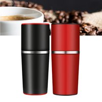 Wholesale Cup Maker Machine - Espresso Machines Portable Coffee Maker Grinding Cup Outdoor Sports Multifunction Portable Camping Travel Coffee Mugs 3 Colors to Choose