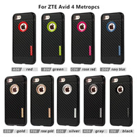 Wholesale Cases For Zte - High Quality Motomo Carbon Fiber Soft Armor TPU Phone Case For ZTE Avid 4 Metropcs For LG Aristo 2 Metropcs D