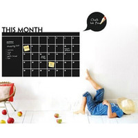 Wholesale Monthly Blackboard Sticker - 206 Monthly Planner Chalkboard Wall Stickers Home Decorations Blackboard Vinyl Poster Decal Mural Art Papers
