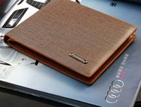 Wholesale Coffee Holder Bags - Hot Sale Blocking Leather Wallet with Card Holder Durable Bifold Open PU fold Credit Card Coffee Money Bags For Men