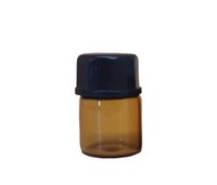 Wholesale Chemistry Lab Glasses - 1ml Mini Amber Glass Vial Essential Oil Bottles with Orifice Reducer and Cap for Essential Oils, Chemistry Lab Chemicals Perfumes (500 Pack)