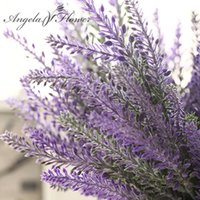 Wholesale Wholesale Lavender Silk Flowers - Wholesale-Romantic Provence decoration lavender flower silk artificial flowers grain decorative Simulation of aquatic plants