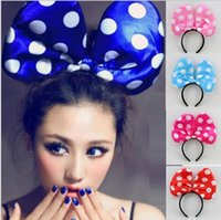 Couleur Rougeoyante Arc Tie Bandeau de Cheveux Électrique LED Flashy Cheveux Hoop Holiday Party Supplies