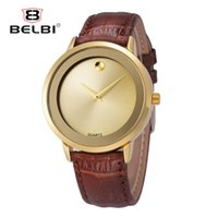 Wholesale Top Brand Watches China - BELBI Luxury Leather Mens Watches Waterproof Japan Quartz Movement Watch Top Simple Dial Design Male Clock China Famous Wristwatch Brand
