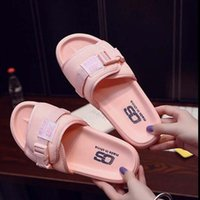 Wholesale Cheapest Leather Slippers - Cheapest Women Pink Slippers Summer Casual Beach Slippers Lovers Men Sports Shoes Size 36-42 Free Shipping