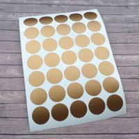 Wholesale Copper Envelopes - 70 Copper envelope seals 1 inch Scalloped Round stickers circle vinyl decals removable wallpaper metallic gold wedding labels
