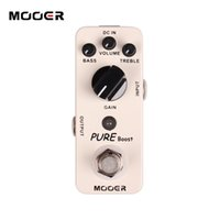 Wholesale boost for guitar resale online - MOOER Pure Boost Pedal True bypass Full metal shell Guitar effect pedal