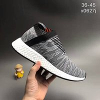 Wholesale White Fur Socks - NMD CS2 Primeknit Black White Running Shoes Mens Womens NMD City Sock 2 Black White sale high quality Size 36-45[With Box]