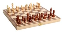 Wholesale Wooden Chess Boards - 1 Pc Classic Wooden International Chess Set Board Game Foldable Staunton Style Chessmen Collection Portable Folding Board Chesses Game Toys