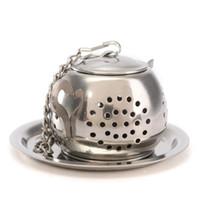 Wholesale Wholesale Teapots Accessories - 1Pcs Tea Infuser Strainer Tea Filter TeaSpoon Teapot accessories Tool for Kitchen Households Gadget Tea ball