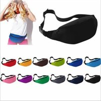 Wholesale Running Bum Bag - Sport Runner Fanny Pack Travel Handy Hiking Waist Belt Fitness Running Jogging Bum Bag Unisex Zip Money Pouch Purse Fashion Waist Bag B2315