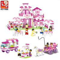 Wholesale Sluban friends Romantic Castle Princess palace Educational Toys girls Building Blocks Sets DIY Brick Kids Toys Christmas Gifts for baby