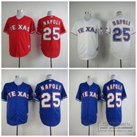 25 mike napoli jersey mens texas rangers jerseys white red blue grey flex base majestic stitched