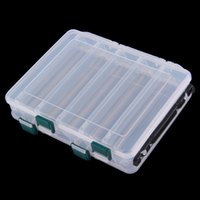 Wholesale 12 Compartment Double Sided Fishing Lures Tackle Hooks Baits Case Storage Box