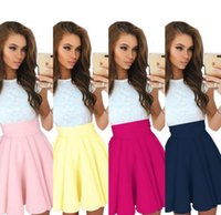Wholesale Cocktail Party Gown Wholesale - Bubble Skirts Women High Waist Skirts Fashion Ball Gown Cool Skirt Cocktail Casual Party Clubwear Short Mini Skirt Saia Polyester Solid H116
