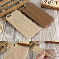 Wholesale Iphone 5s Covers Wood - Ultra Thin Wood Grain Style TPU Case for iPhone 6 6S 7 7 Plus 5 5S Soft Back Cover Slim Luxury Wooden Pattern Phone Cases bags