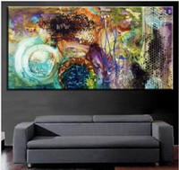 Wholesale Huge Abstract Wall Paintings - Pure Hand Painted Modern Huge Abstract Wall Decor Art Oil Painting On High Quality Canvas.Multi customized sizes Ab003