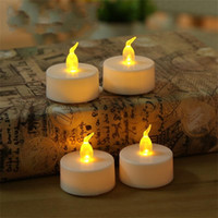 Wholesale tea lights candles wax for sale - Practical Bougie Lamps Transparent Core Electronic LED Candle Light Flameless Flickering Tea Lamp Easy To Carry Wax Candle Lights wl A R