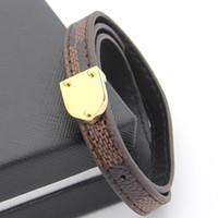 mulheres verdadeiras pulseira de couro venda por atacado-Jóias por atacado padrão de treliça de couro dupla das mulheres seta pulseira de couro senhoras pulseira de couro real coreano de comércio exterior