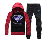 diamante natural suelto al por mayor-Moda impresa Diamond Supply Co Men Fleece Hoodies sudadera skate marca hip hop suelta código grande impreso