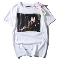 Wholesale Cutting Print - Off White T-Shirt YOU CUT ME OFF Men's Tees 2017 Off-White 7 Opere T-Shirt High Quality Street Wear Short Sleeve Cotton Shirt YBG0808