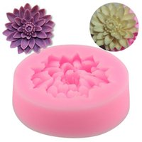 Wholesale Chocolate Modes - Wholesale- Useful Flower 3D Silicone Mould Lotus Mode Jelly Mold Cake Decorations Chocolate