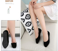 Wholesale Ladies Shoes Size 44 - Spring Summer Ladies Shoes Ballet Flats Women Flat Shoes Woman Ballerinas Black Large Size 32 - 44 Casual Shoe Sapato Womens Loafe