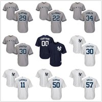 black clint - Men s yankees jersey tyler CLIPPARD jacoby ELLSBURY dustin FOWLER clint FRAZIER brett GARDNER domingo GERMAN chad GREEN Baseball Jerseys